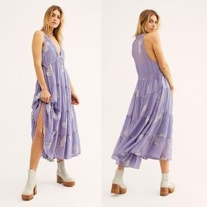 Free People Run Away With Me Embroidered Dress